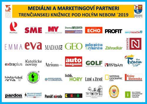 Letná čitáreň v Trenčíne - Mediálni a marketingoví partneri ´2019