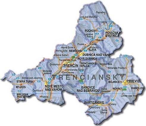 Mapa TSK (zdroj:http://www.slovensko-privat.sk/domain/slovensko-privat/files/novy-panel-ubytovania/trenciansky-kraj.jpg)